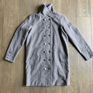 $398 free people Long Gray Wool coat